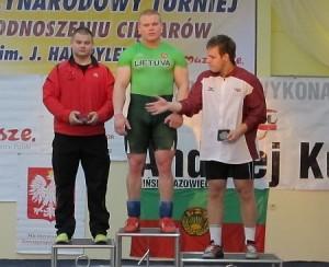 Turnyro aboliutus nugalėtojas Žygimantas Stanulis (viduryje), Gedas Guiskis (kairėje), latvijos atstovas Edgars Tifentals.