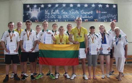 Baltijos jūros šalių žaidynėse medalių lietus