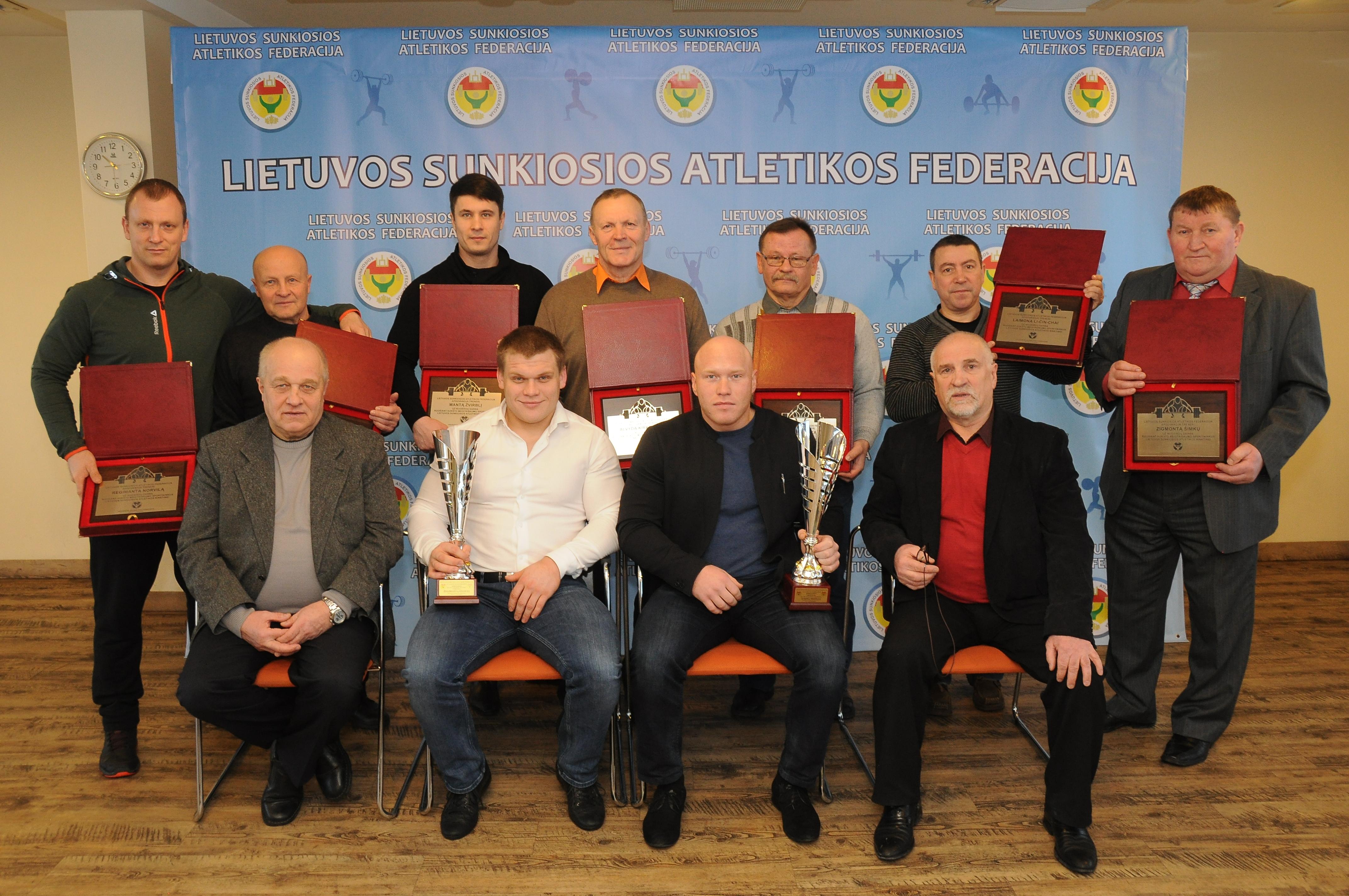 LSAF pagerbė geriausius sunkiaatlečius ir trenerius
