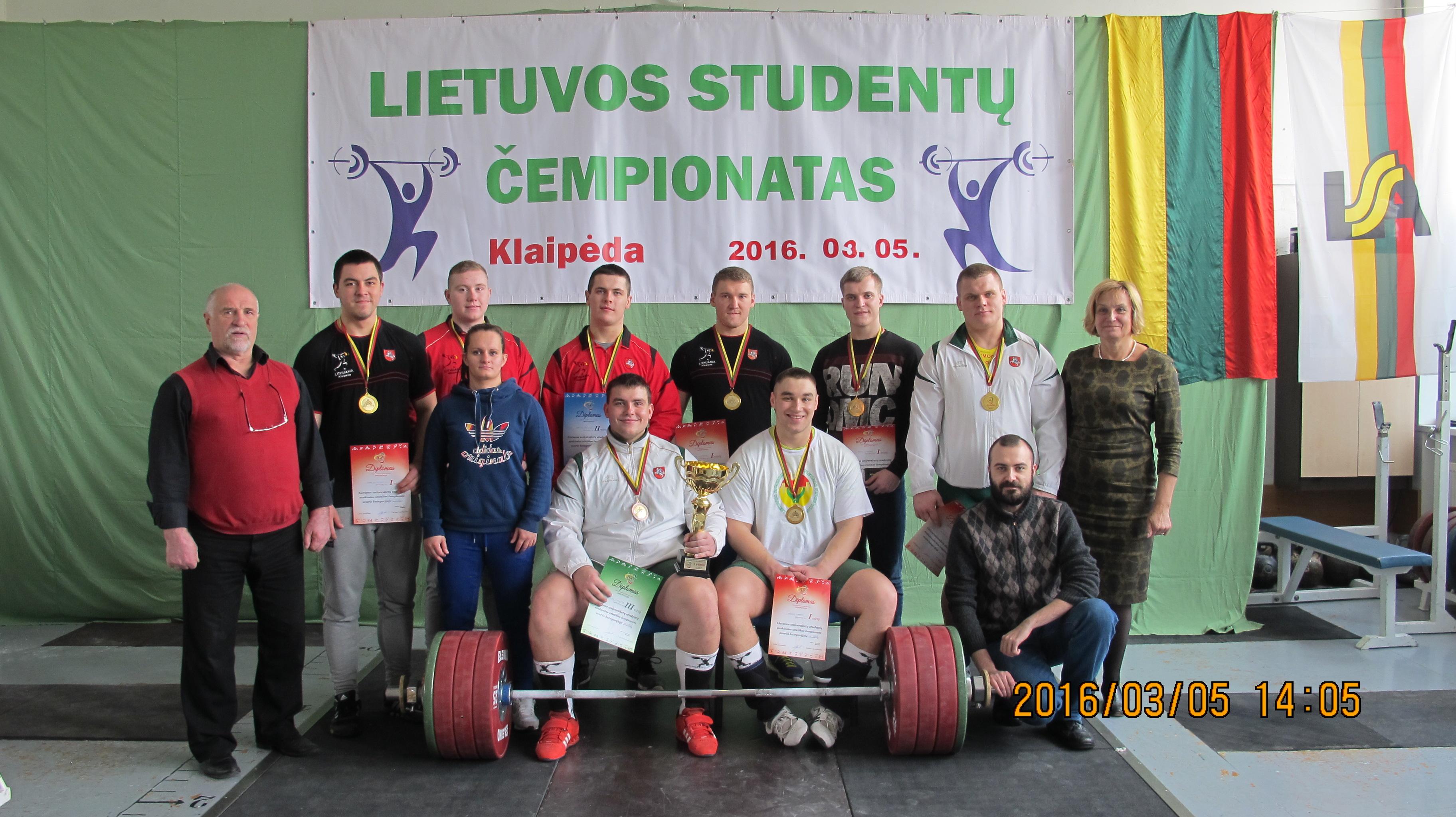 Lietuvos studentų sunkiosios atletikos čempionatas Klaipėdoje