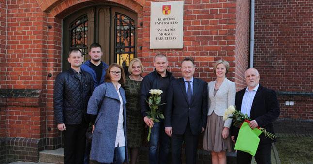 Klaipėdos universitetas pagerbė sunkiaatlečius