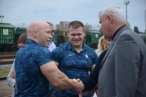 Aurimas Didžbalis, Žygimantas Stanulis ir Klaipėdos meras Vytautas Grubliauskas
